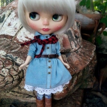 Blythe denim dress set at Blisby
