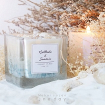 Sea Square Lover Candles at Blisby
