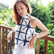 Bow Back Linen Top at Blisby