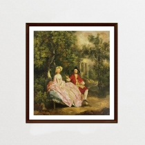 Conversation in a Park by Thomas Gainsborough (ภาพพิมพ์)  at Blisby