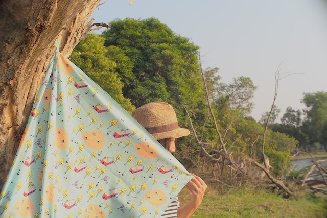 Pip Scarf ผ้าพันคอ ลายPip Village large image 0 by PipTheIllustory