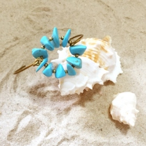 Jagged Turquoise Bangle at Blisby