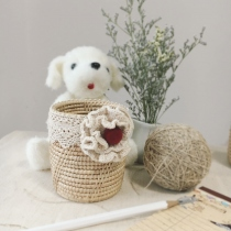 Little basket 7.5 cm * 8.5 cm ( สีธรรมชาติ) by Banlangdokmai  at Blisby