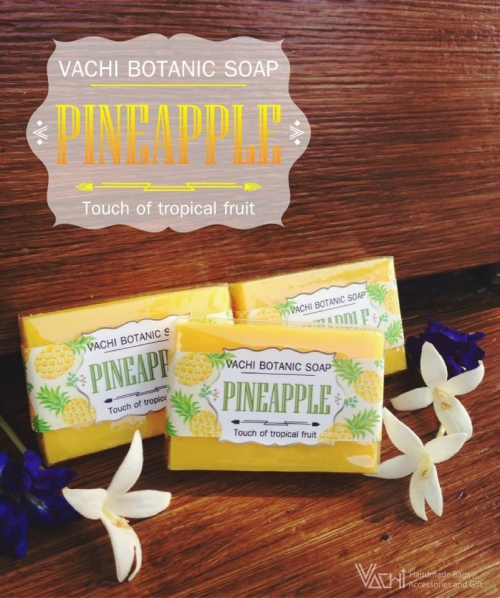 Vachi Pineapple Soap /Touch of Tropical fruit สบู่สับปะรด 70กรัม large image 0 by vachidesign