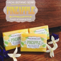 Vachi Pineapple Soap /Touch of Tropical fruit สบู่สับปะรด 70กรัม at Blisby