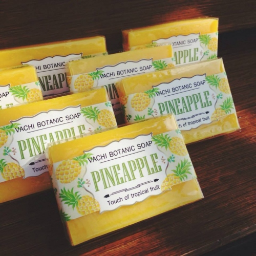 Vachi Pineapple Soap /Touch of Tropical fruit สบู่สับปะรด 70กรัม large image 1 by vachidesign