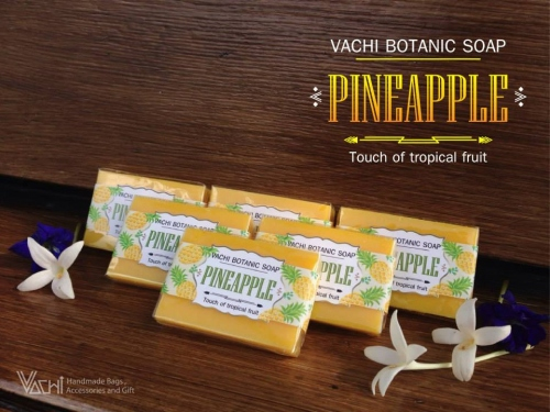 Vachi Pineapple Soap /Touch of Tropical fruit สบู่สับปะรด 70กรัม large image 2 by vachidesign