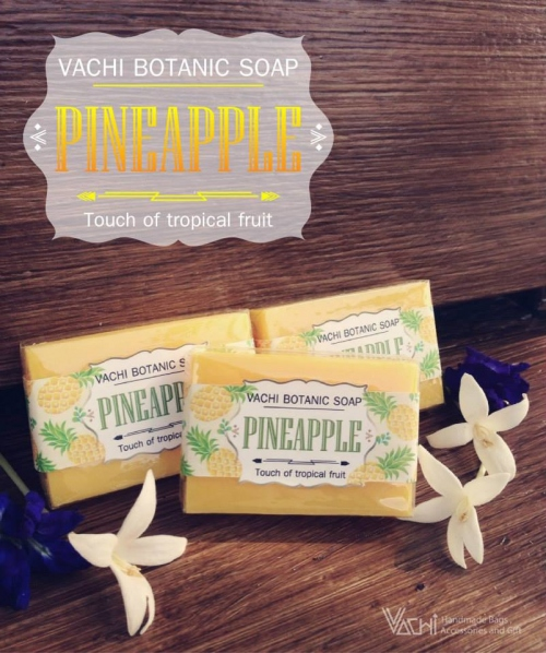 Vachi Pineapple Soap /Touch of Tropical fruit สบู่สับปะรด 70กรัม large image 3 by vachidesign