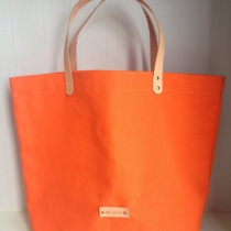 Spice Orange Canvas Tote at Blisby