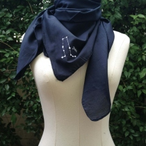 GEMINI scarf (90x90 cm) at Blisby