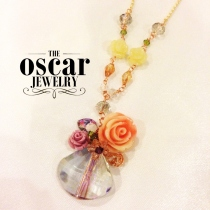 Pure Crystal Roses Necklace at Blisby