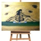 """Cant see...but still see "" Acrylic painting on wood-plate thumbnail 1 by SarahNuji"
