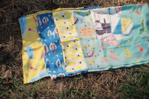 Pip Scarf ผ้าพันคอ ลาย The Yellow&Pole large image 3 by PipTheIllustory