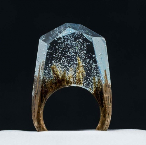 Aurora ring wood large image 0 by Customme3d