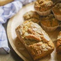 Vegan banana bread muffin