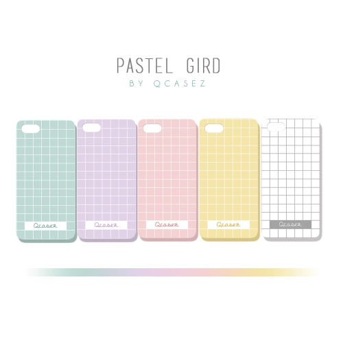 เคสมือถือ iphone 4/4s : Pastel grid large image 0 by qcasez