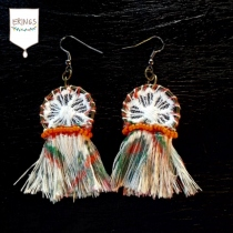 Orange Gypsy Hoops Earring at Blisby
