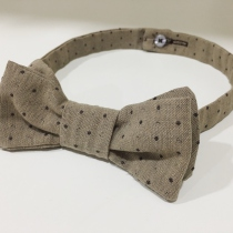 BT01: Polka Dot Brown Bow Tie at Blisby