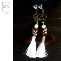 Bohemian Tassel Earring - Brown at Blisby