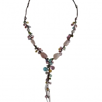 Chain of Love Handmade Natural Stone Necklace at Blisby