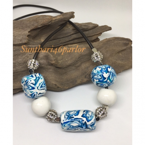 White and Blue Necklace large image 0 by Sunthari
