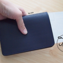 Slim passport case สีน้ำเงิน No.S04 at Blisby