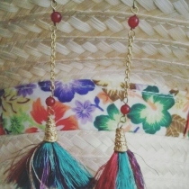 Handmade earrings at Blisby