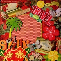 Travel (12x12inch) รวมกรอบกระดาษ  at Blisby