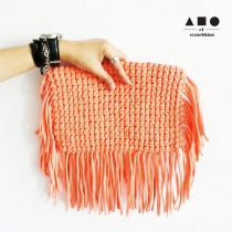 FRINGE CLUTCH (OLD ROSE) at Blisby