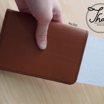 Slim passport case สีน้ำตาล No.S02 at Blisby