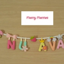ป้ายชื่อ Personalized Baby Name Bunting & Banner at Blisby