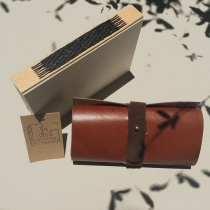 PEN/PENCIL CASE  LEATHER at Blisby