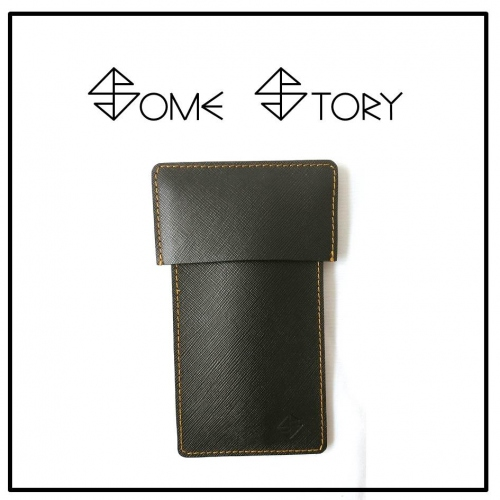 Saffiano Black Leather Pen Case  by SOME STORY large image 0 by somestory