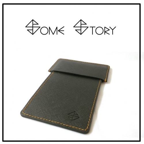 Saffiano Black Leather Pen Case  by SOME STORY large image 1 by somestory