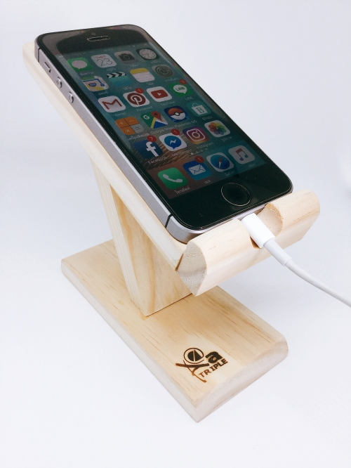 Wooden Phone Stand  large image 2 by TripleAshopWoodwork