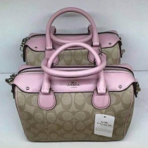 New....Coach Signature Mini Bennett Satchel at Blisby