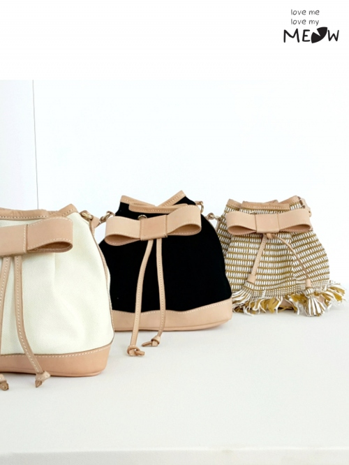 """BOW"" Bucket Bag  large image 0 by LoveMeLoveMyMeow"