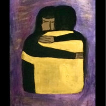 """""""Precious Love will find you way"""" Acrylic painting on wood-plate at Blisby"""