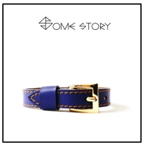 Cobult Blue Leather Wrist Belt by SOME STORY at Blisby