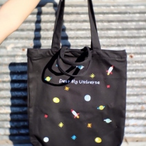 """Dear My Universe"" Canvas Tote Bag at Blisby"