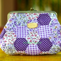 Purple Hexagon Cosmetic Purse at Blisby
