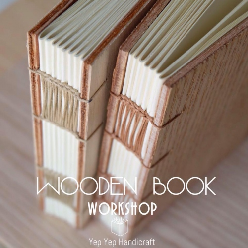 เรียนเย็บสมุด WOODEN BOOK  large image 0 by YepYepHandicraft