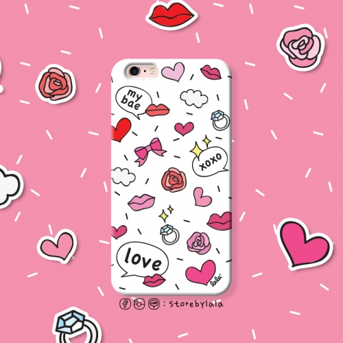 เคส iPhone 6/6s ลาย kiss kiss (สีขาว) large image 1 by storebylala