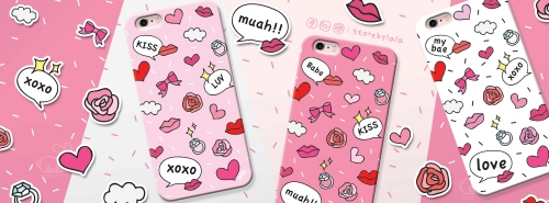 เคส iPhone 6/6s ลาย kiss kiss (สีขาว) large image 2 by storebylala