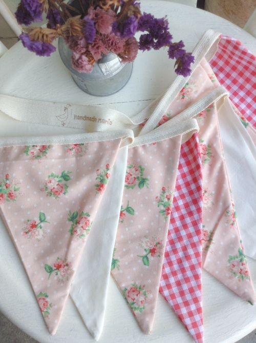 Flags Bunting {In garden /coral} large image 0 by HandmadeMania