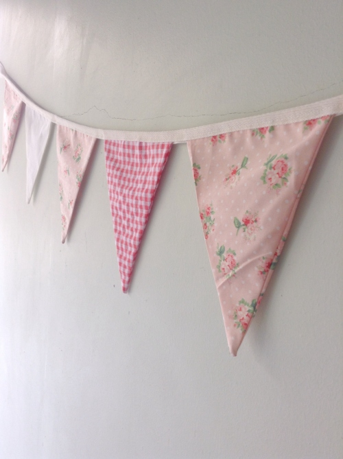 Flags Bunting {In garden /coral} large image 1 by HandmadeMania