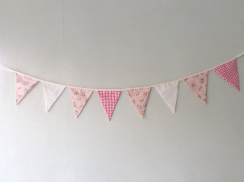 Flags Bunting {In garden /coral} large image 2 by HandmadeMania