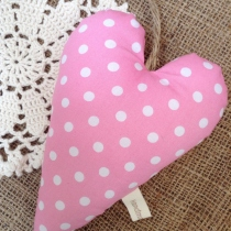 Heart Hanging {polka dot} by HandmadeMania