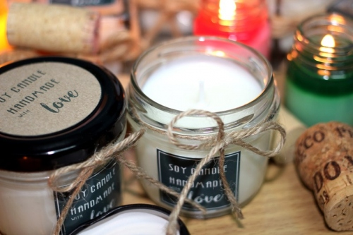 Soy Candle ในกระปุกแก้วฝาสีดำ large image 1 by Brownnie