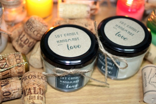 Soy Candle ในกระปุกแก้วฝาสีดำ large image 2 by Brownnie